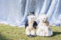 Bride and groom teddy bear in wedding
