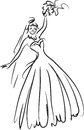 Bride hand drawn illustration of Royalty Free Stock Photography