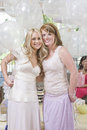Bride And Her Friend Holding Balloons At Hen Party Royalty Free Stock Photo