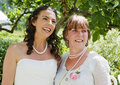 Bride and her Mother enjoying a quiet moment Royalty Free Stock Image