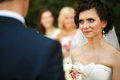 The bride looking on groom Royalty Free Stock Photo