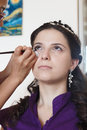 Bride make up of young for the wedding Royalty Free Stock Image