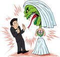 Bride/monster Royalty Free Stock Image