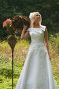 Bride outdoor Royalty Free Stock Images