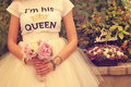 Bride with peonies bouquet Royalty Free Stock Photo