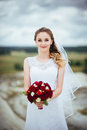 Bride Portrait On Nature