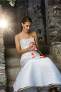 Bride with Red Paint Royalty Free Stock Photo