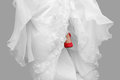 Bride with Red Shoes Stock Photo