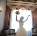 The bride in a room. Stock Photography
