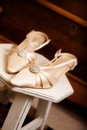 The Bride's Shoes Royalty Free Stock Photo