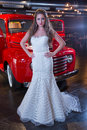 The bride a series of wedding dresses and models Stock Photo