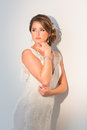 The bride a series of wedding dresses and models Royalty Free Stock Photo