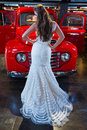 The bride a series of wedding dresses and models Royalty Free Stock Photos