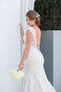 The bride a series of wedding dresses and models Stock Images