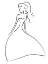 Bride sketch Stock Images
