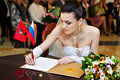 Bride on solemn registration of marriage Royalty Free Stock Photos
