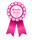 Bride to be rosette illustration of a pink isolated on a white background Stock Photography