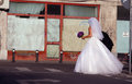 Bride walking Royalty Free Stock Image