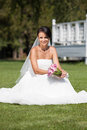 Bride with a wedding bouquet Royalty Free Stock Photo