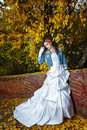 Bride in wedding dress and with an amazing make up Royalty Free Stock Image