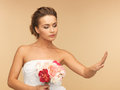 Bride with wedding ring picture of looking at Royalty Free Stock Photo