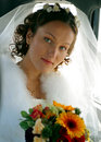 Bride in white wedding dress Royalty Free Stock Photos