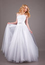 Bride In White Wedding Dress O...