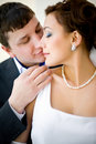 Bridegroom and bride Royalty Free Stock Photo