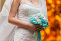 Brides bouquet a bride holds her at wedding Royalty Free Stock Image