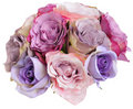 Bridesmade posy made of silk roses Royalty Free Stock Photos
