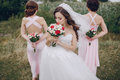 Bridesmaid bride HD Royalty Free Stock Photo