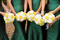 Bridesmaids Flowers Stock Image
