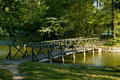 Bridge above a lake Royalty Free Stock Images