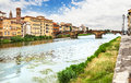 Bridge across the Arno in Florence. Royalty Free Stock Photo