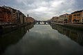A bridge across the Arno river in Florence Royalty Free Stock Photo