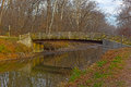 A bridge across canal in Great Falls Park, Carderock, Maryland. Royalty Free Stock Photo