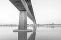 Bridge across the mekong river thailand laos black and white Stock Image