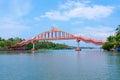 Bridge across river in amritapuri india kerala Royalty Free Stock Images