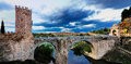 Bridge alcantara also known as puente trajan alcantera toledo spain Royalty Free Stock Image