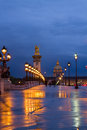 Bridge of Alexandre III , Paris, France Royalty Free Stock Photo