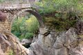 Bridge ancient of mizarela portugal Royalty Free Stock Photo