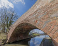 A bridge on a canal on the inland waterways network of navigable canals and waterways in the english and british countryside in Royalty Free Stock Images