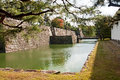 Bridge into castle in Kyoto Royalty Free Stock Photography