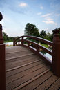 Bridge in Chicago's - Japanese Gardens Royalty Free Stock Photo