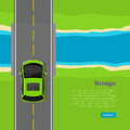 Bridge Conceptual Flat Vector Web Banner