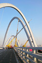 Bridge construction beizhonghuan is under the is located in taiyuan shanxi china Stock Photos