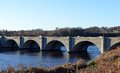 Bridge of don aberdeen scotland the new opened in a five arched granite Royalty Free Stock Photo