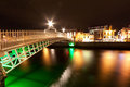 Bridge in Dublin at night, Ireland Royalty Free Stock Image