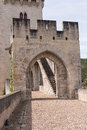 Bridge entrance ponte valentre th century roman at cahors france Stock Photography
