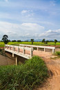 Bridge in farmland Royalty Free Stock Images